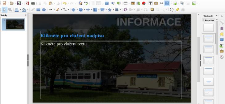 Šablony pro Impress a PowerPoint